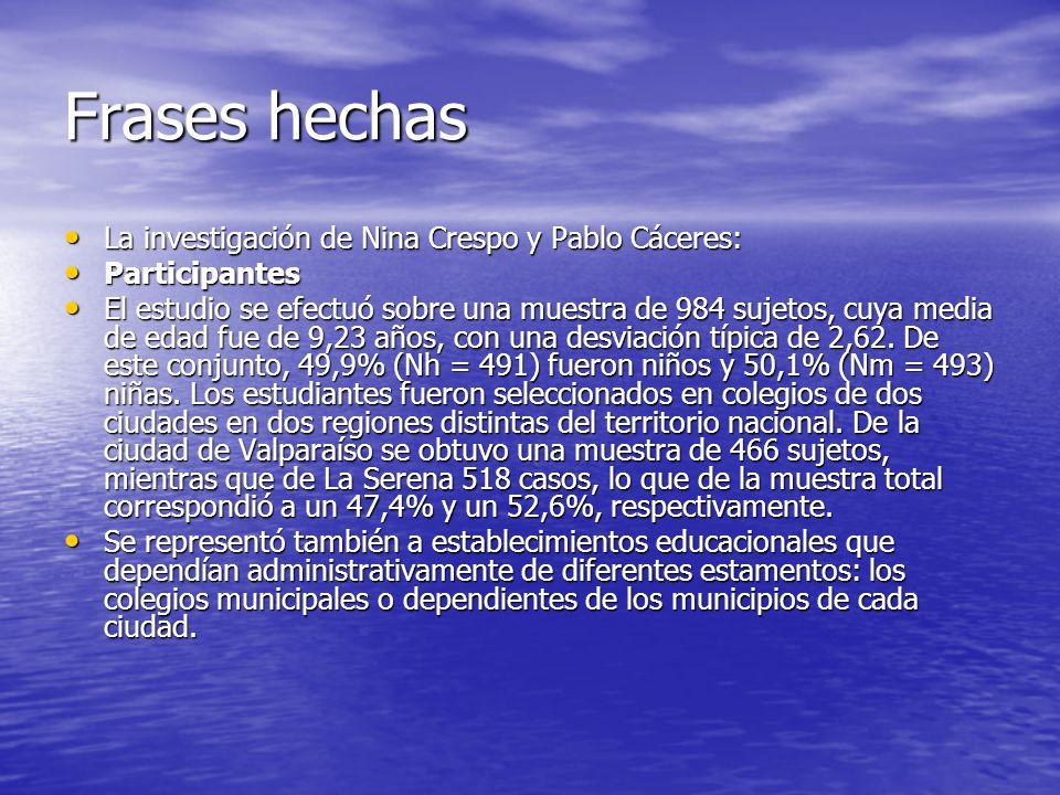 Frases hechas La investigación de Nina Crespo y Pablo Cáceres: