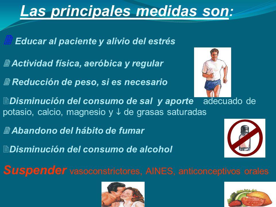 Las principales medidas son: