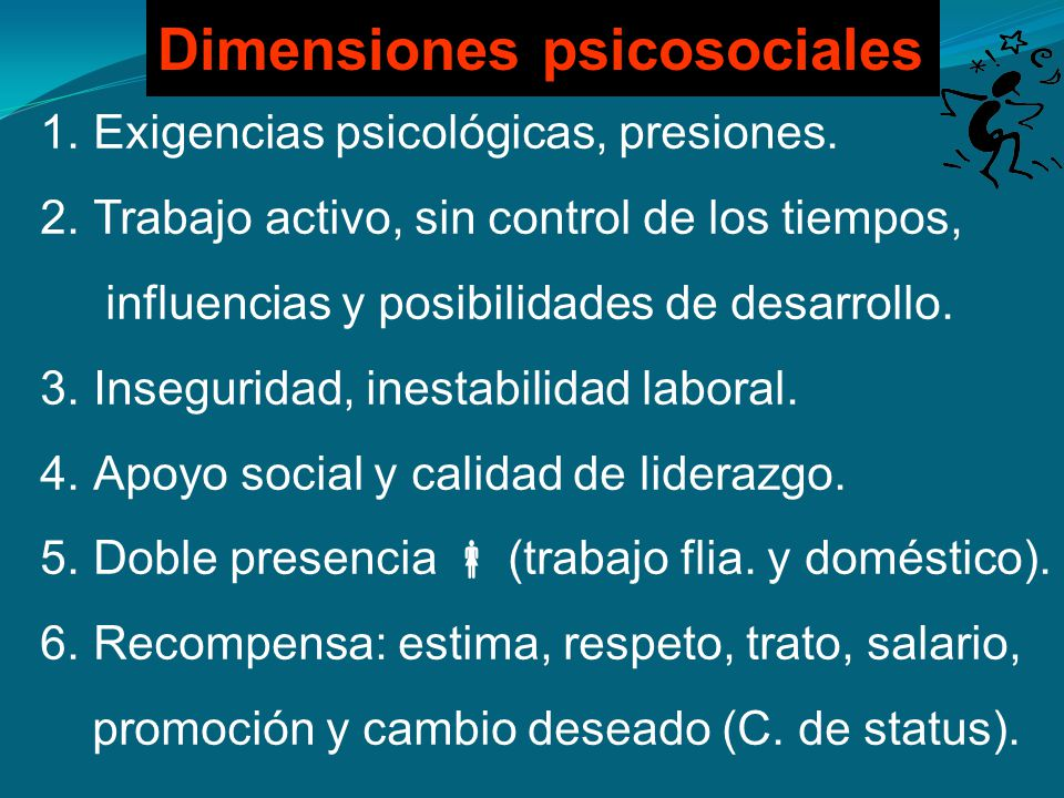 Dimensiones psicosociales