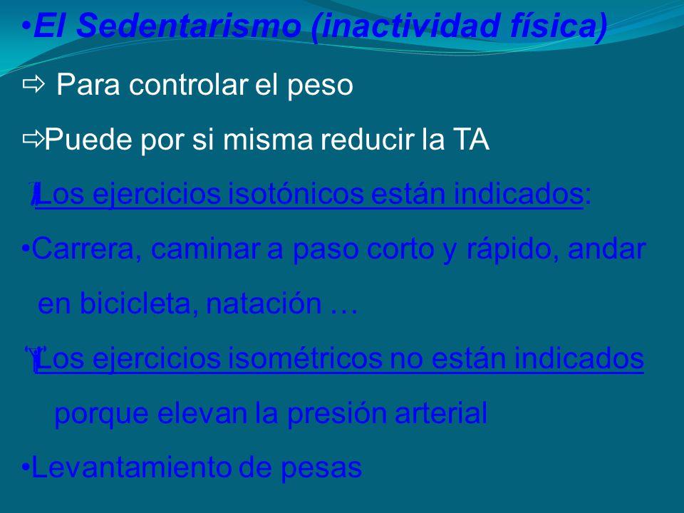El Sedentarismo (inactividad física)
