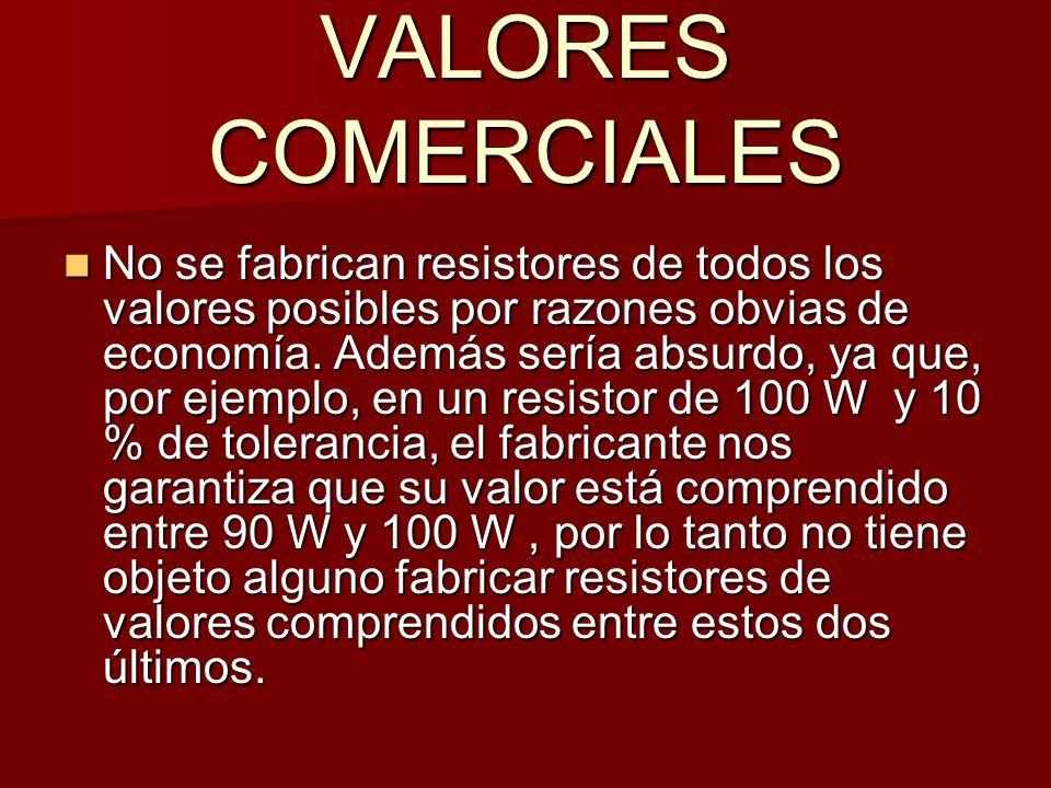 VALORES COMERCIALES