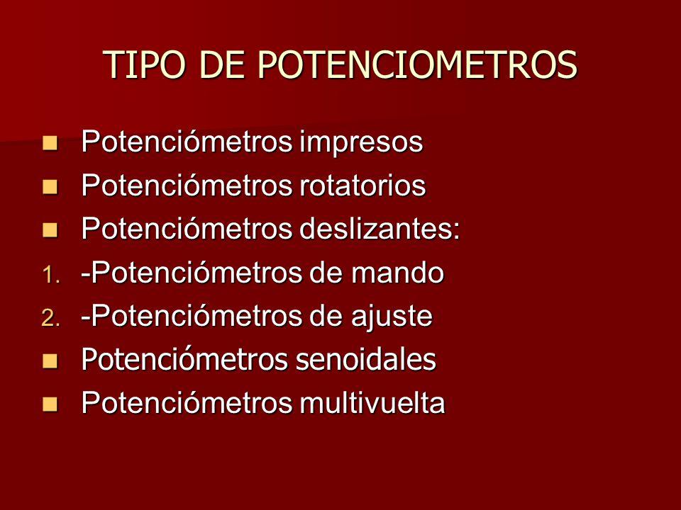 TIPO DE POTENCIOMETROS