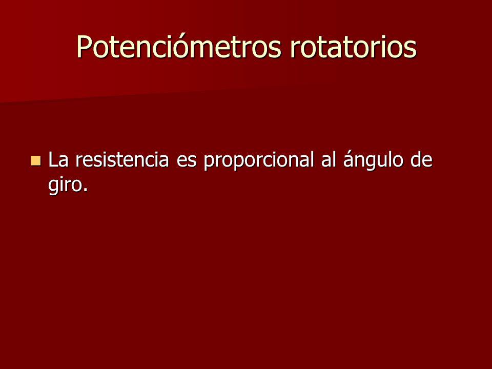 Potenciómetros rotatorios