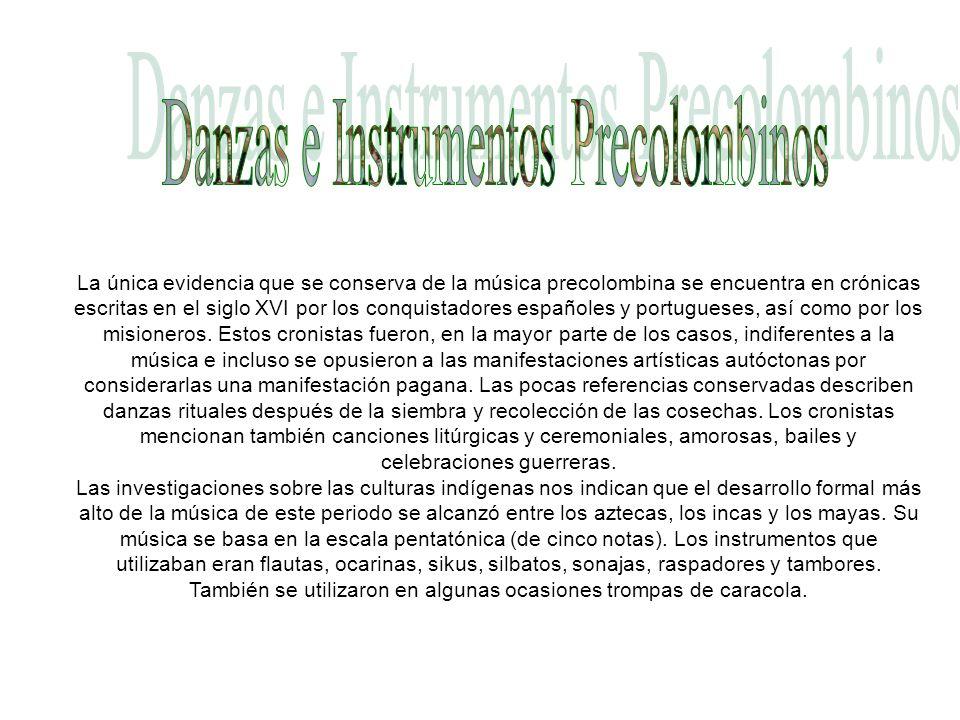Danzas e Instrumentos Precolombinos