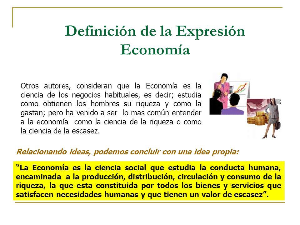 Definición de la Expresión Economía