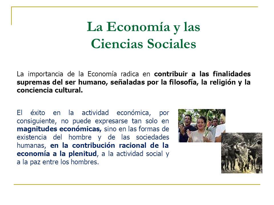 La Economía y las Ciencias Sociales