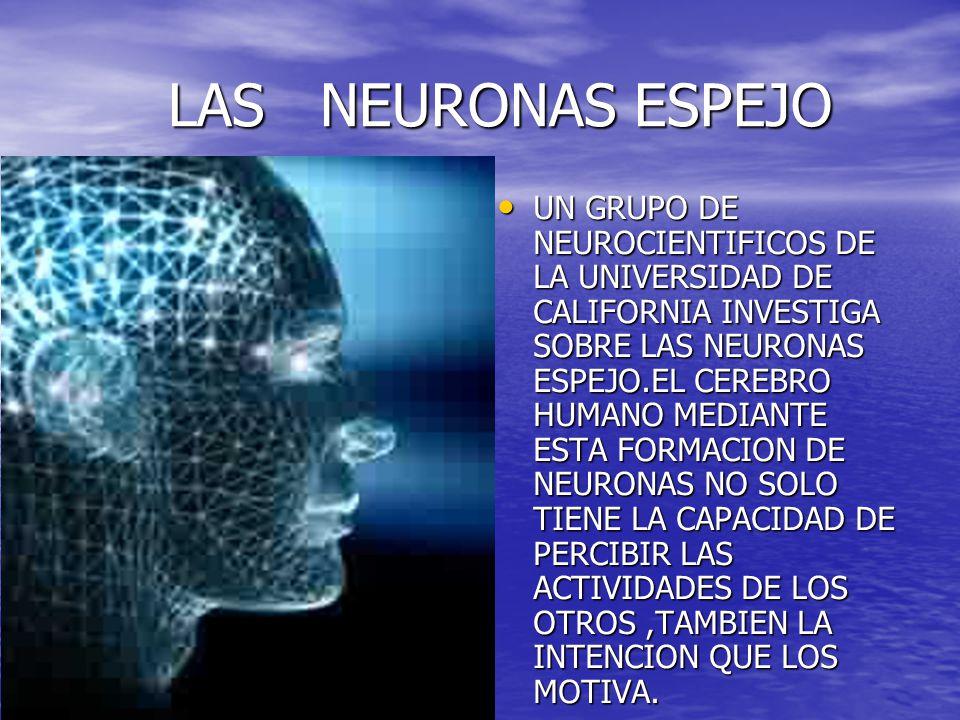 LAS NEURONAS ESPEJO