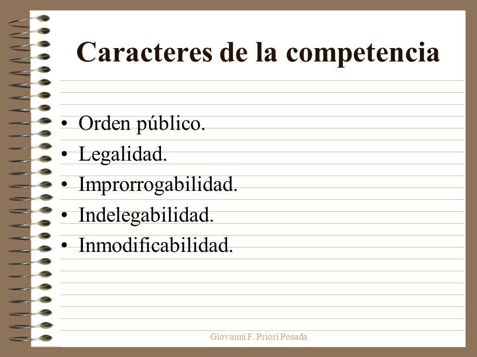 Caracteres de la competencia
