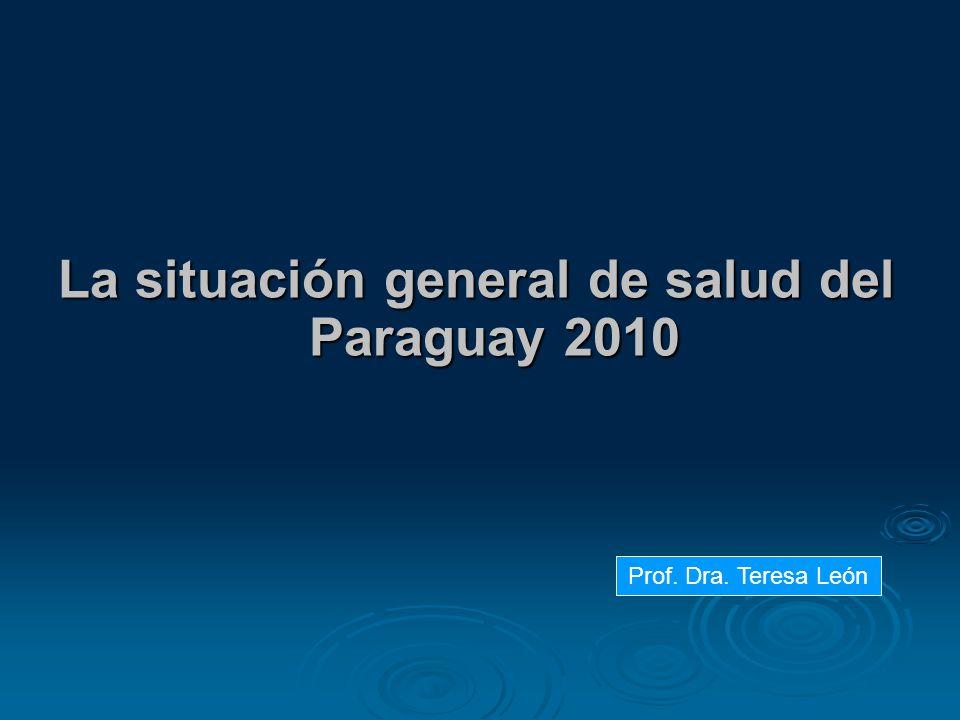 La situación general de salud del Paraguay 2010