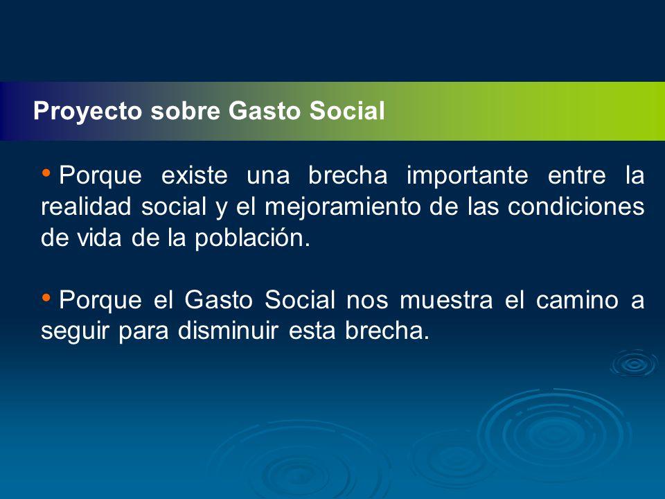 Proyecto sobre Gasto Social