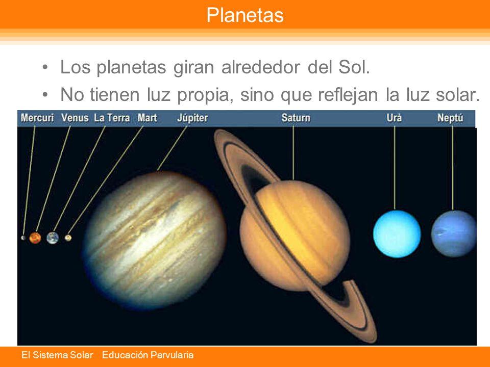 Planetas Los planetas giran alrededor del Sol.