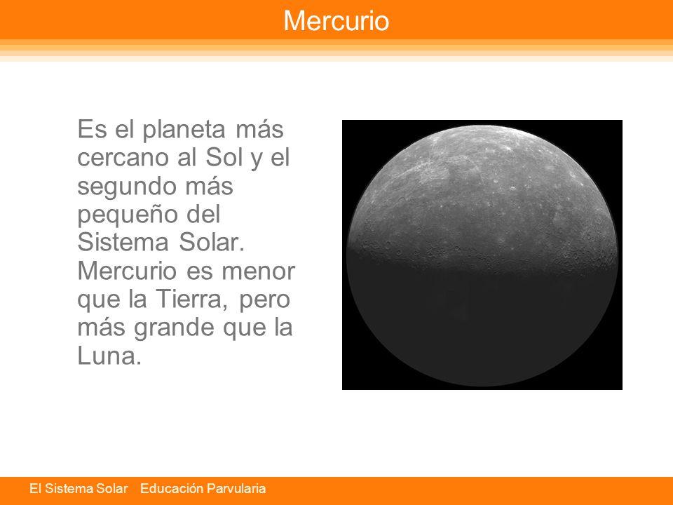 Mercurio Es el planeta más cercano al Sol y el segundo más pequeño del Sistema Solar.