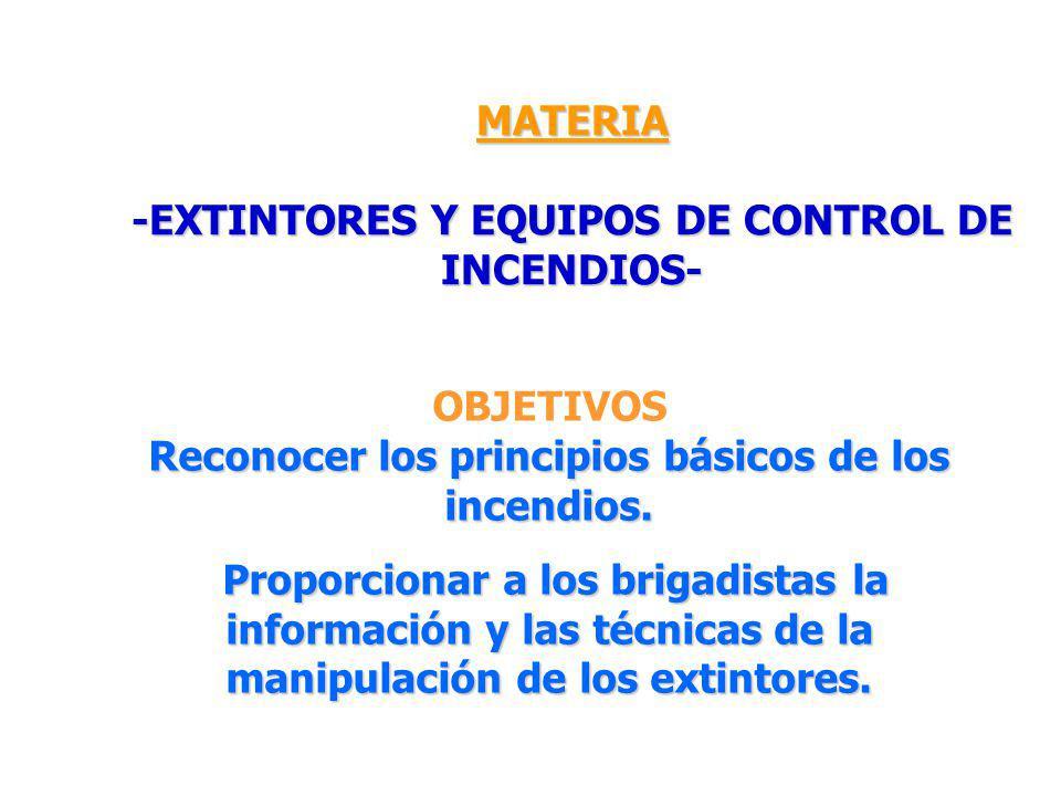 -EXTINTORES Y EQUIPOS DE CONTROL DE INCENDIOS-