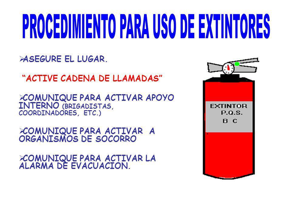 PROCEDIMIENTO PARA USO DE EXTINTORES