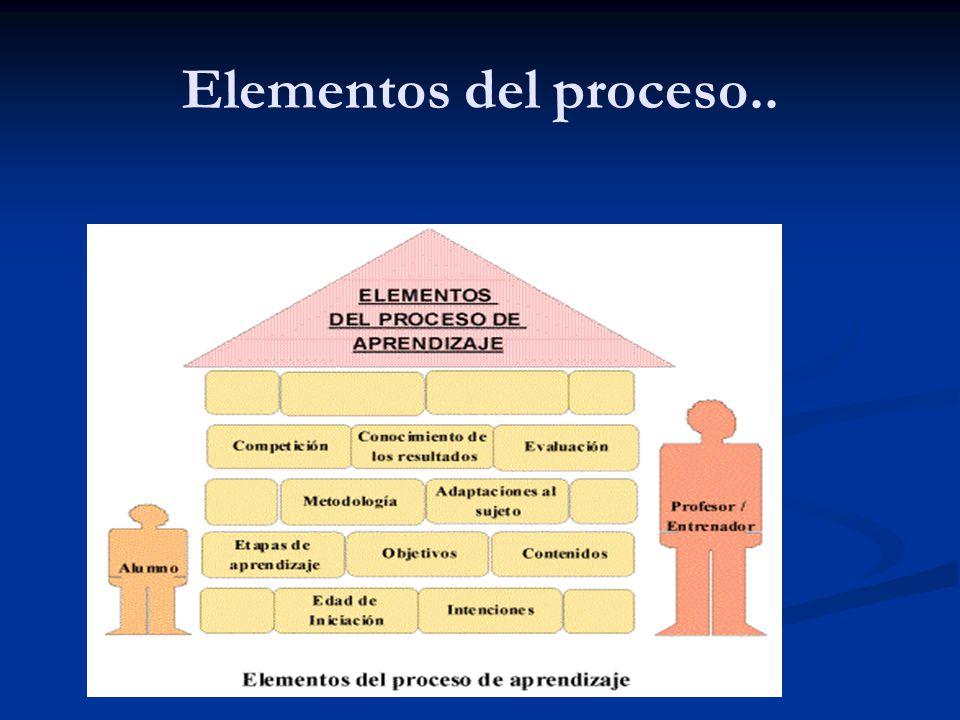 Elementos del proceso..