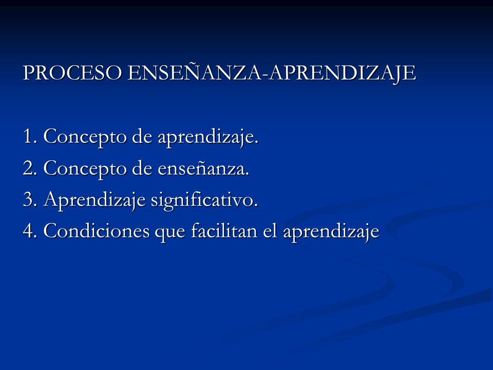 PROCESO ENSEÑANZA-APRENDIZAJE