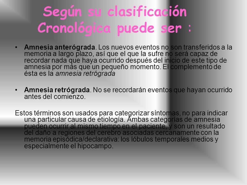 Según su clasificación Cronológica puede ser :