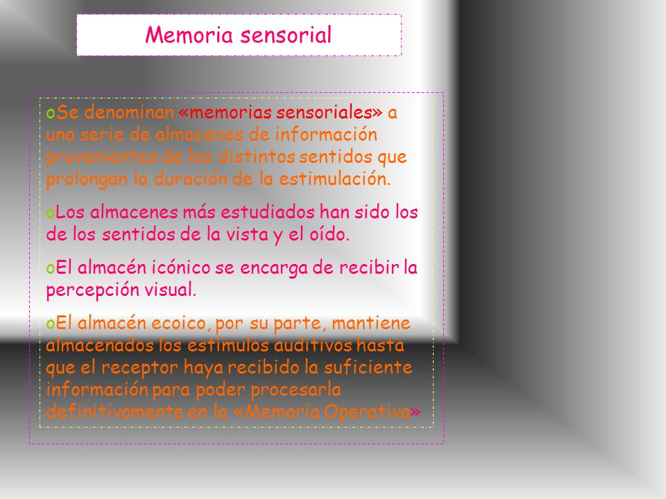 Memoria sensorial