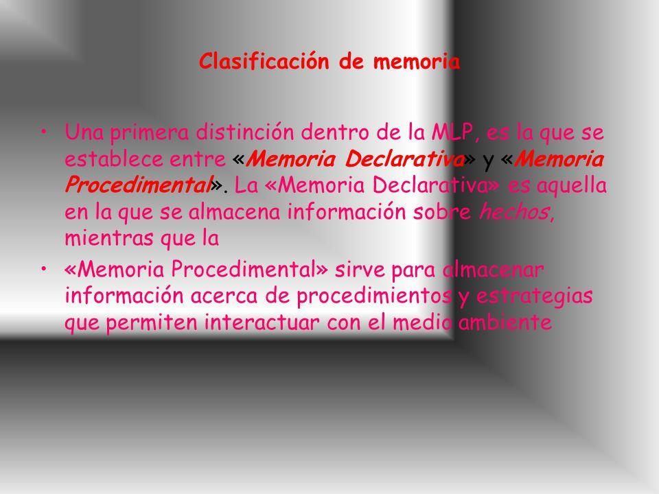 Clasificación de memoria
