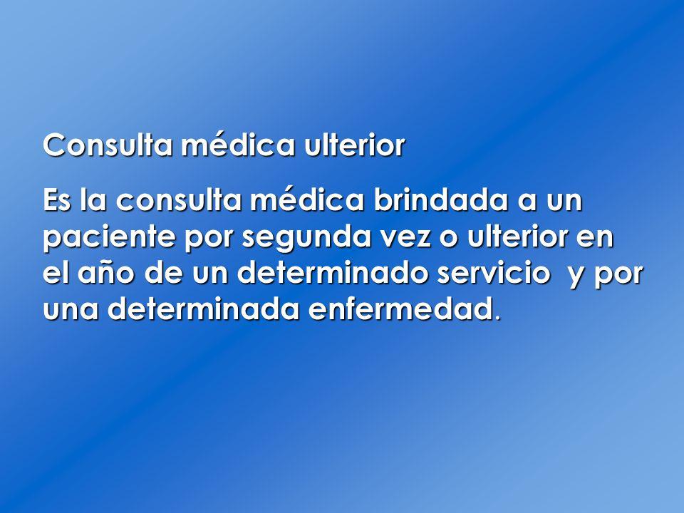 Consulta médica ulterior