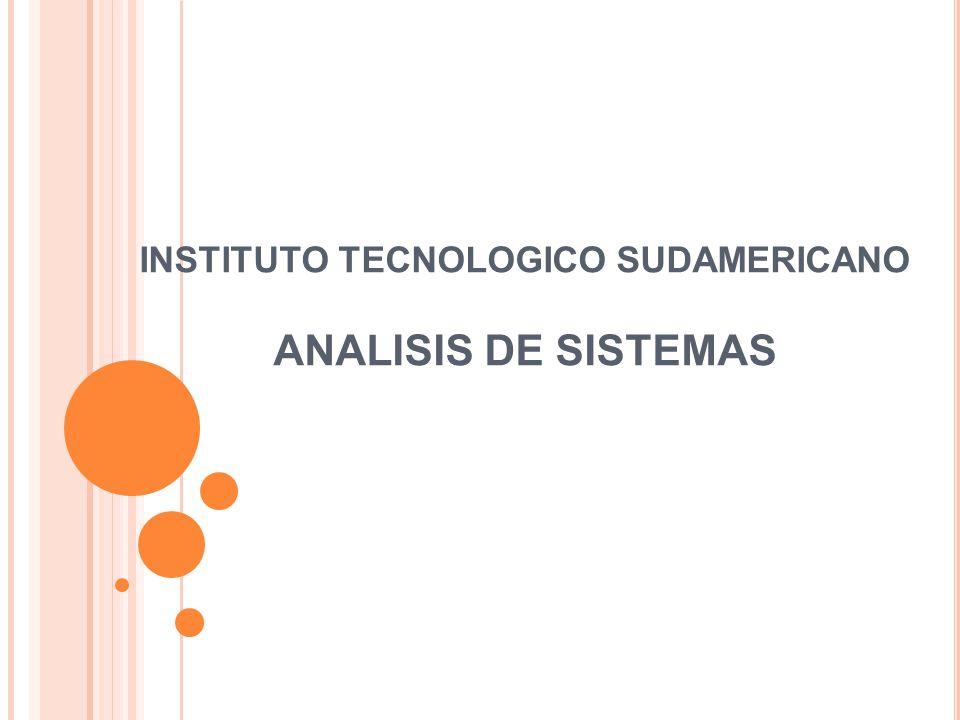 INSTITUTO TECNOLOGICO SUDAMERICANO ANALISIS DE SISTEMAS