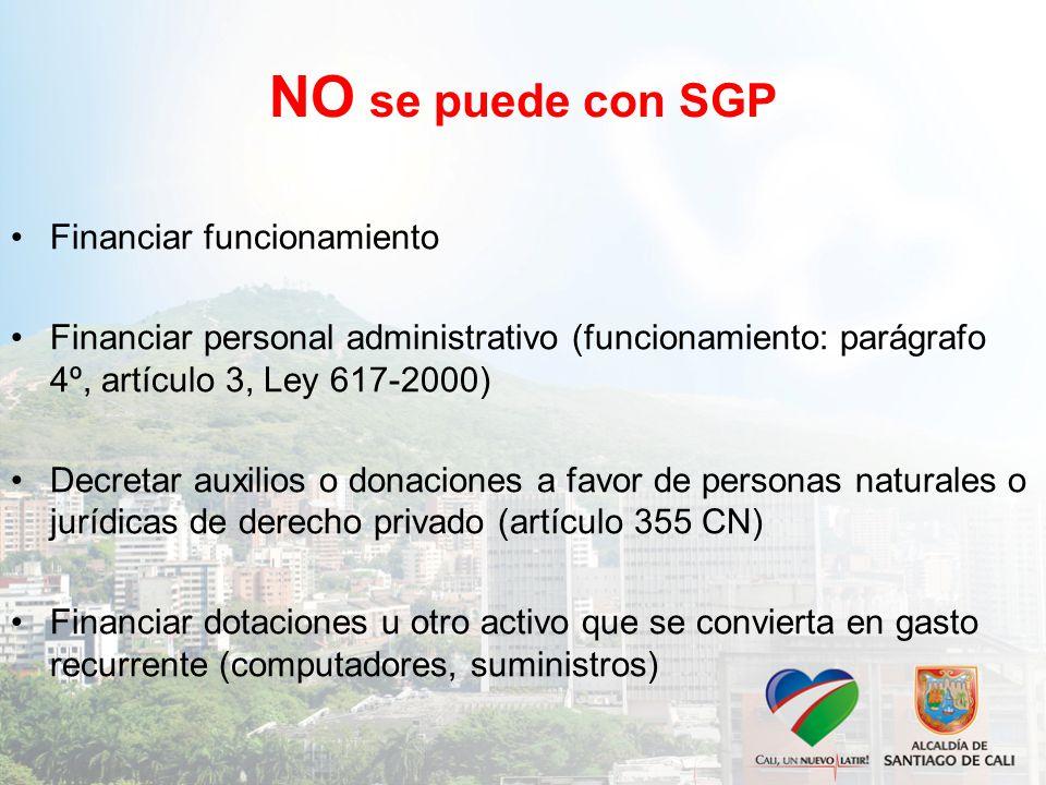 NO se puede con SGP Financiar funcionamiento