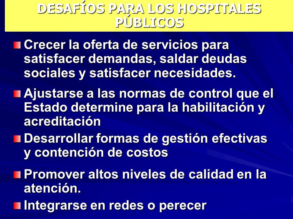 DESAFÍOS PARA LOS HOSPITALES PÚBLICOS