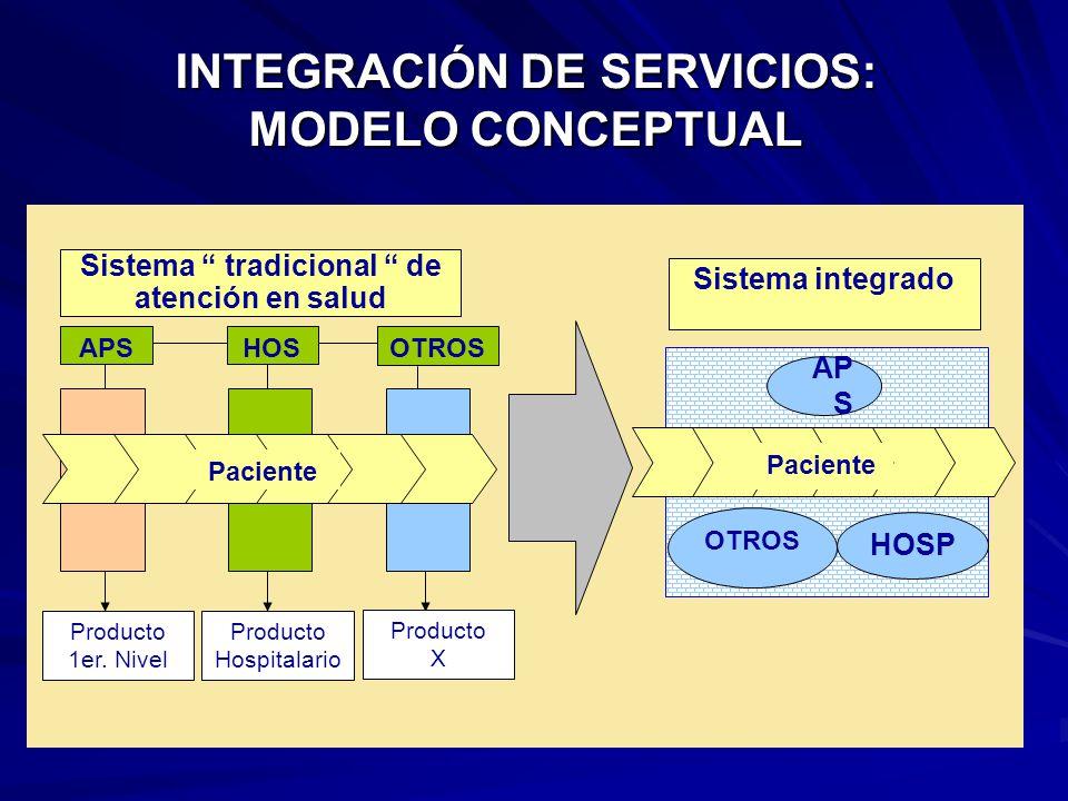 INTEGRACIÓN DE SERVICIOS: MODELO CONCEPTUAL