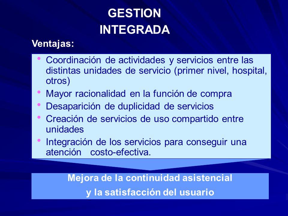 Mejora de la continuidad asistencial y la satisfacción del usuario