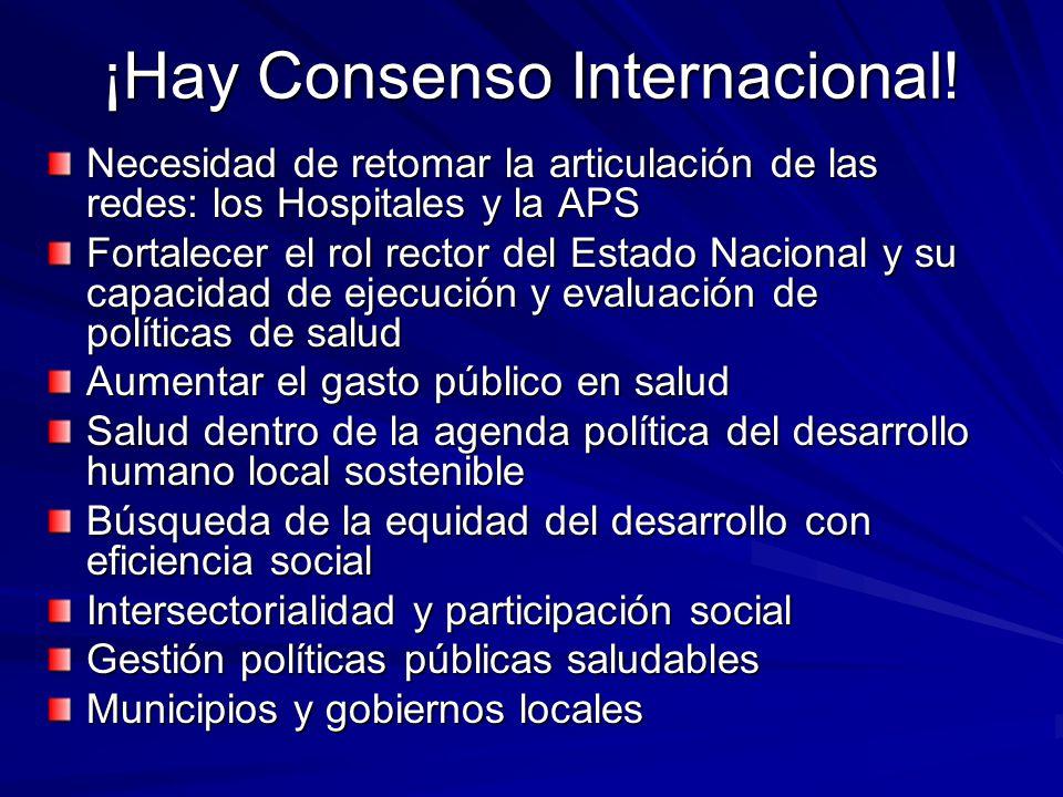 ¡Hay Consenso Internacional!