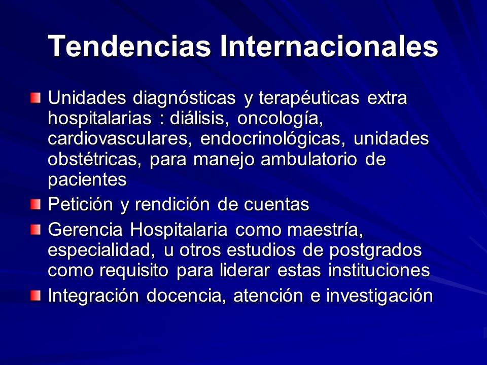 Tendencias Internacionales