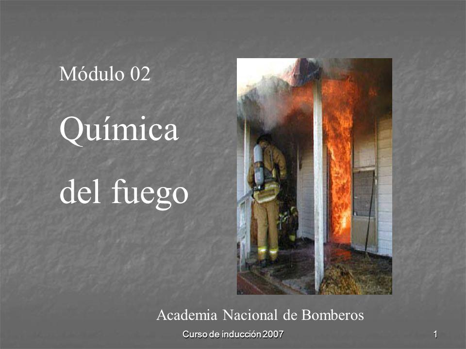 Química del fuego Módulo 02 Academia Nacional de Bomberos