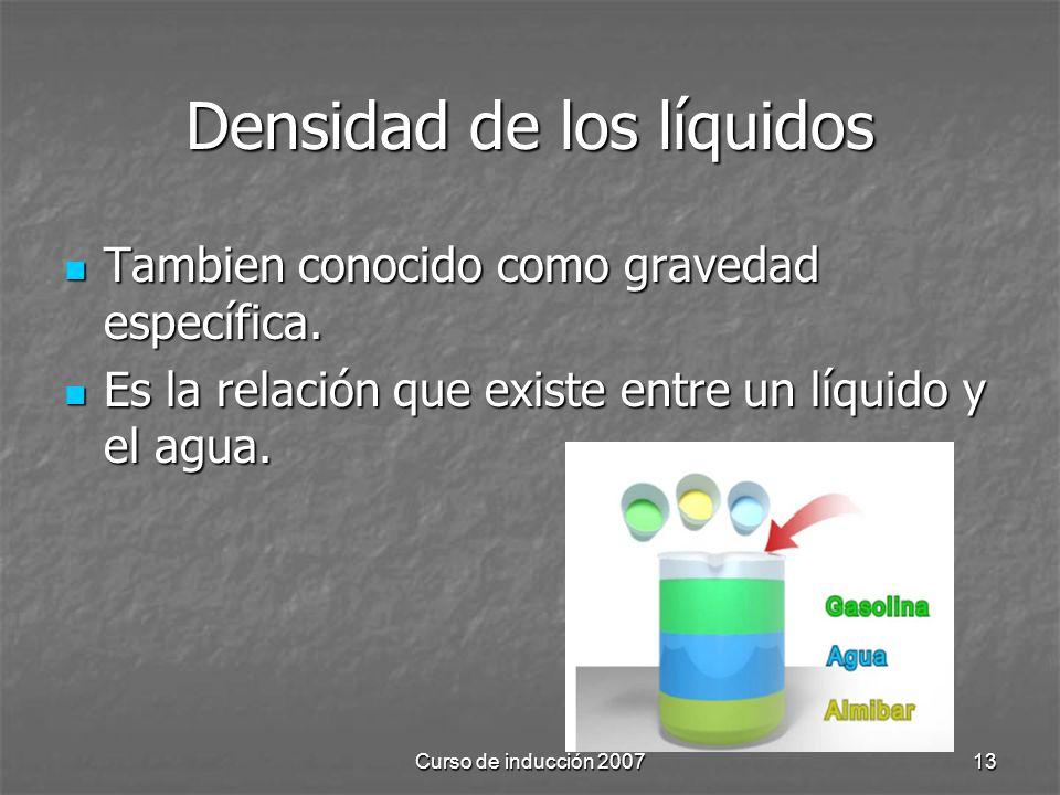 Densidad de los líquidos