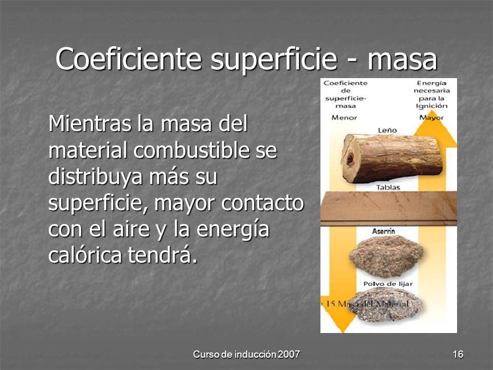 Coeficiente superficie - masa