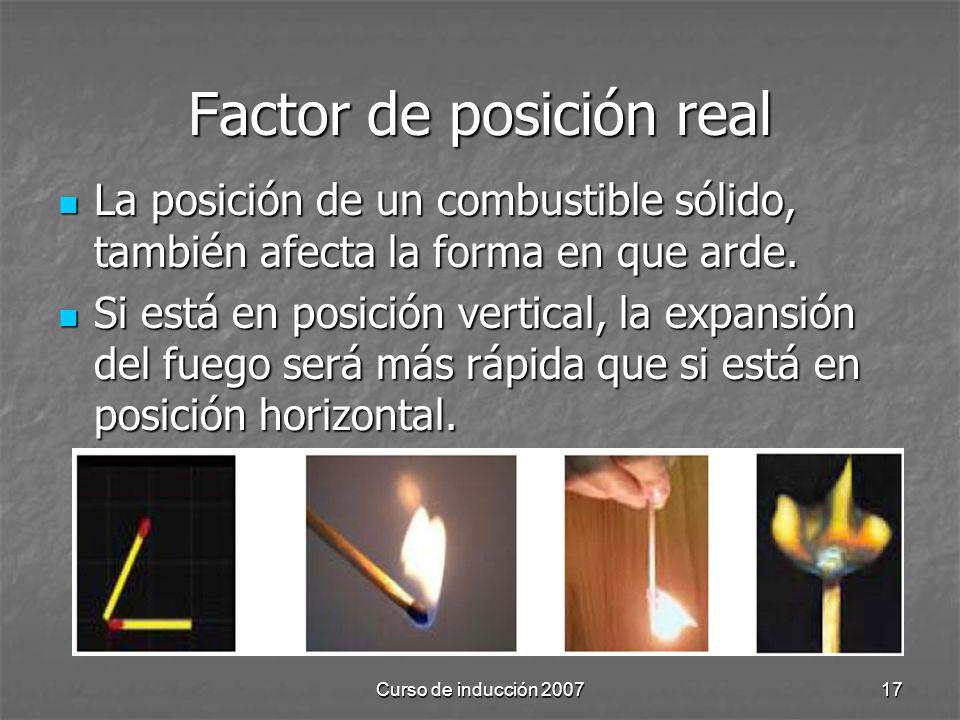 Factor de posición real