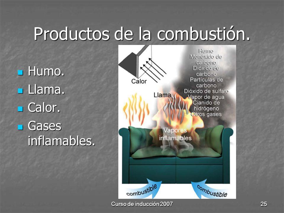 Productos de la combustión.