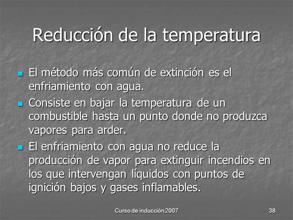 Reducción de la temperatura