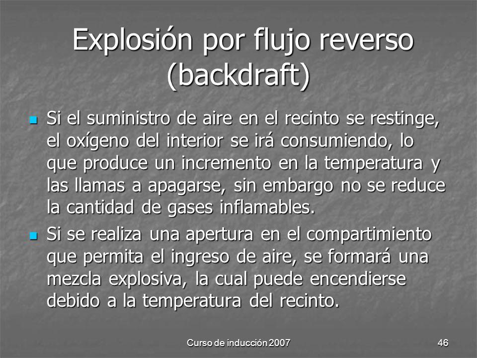 Explosión por flujo reverso (backdraft)