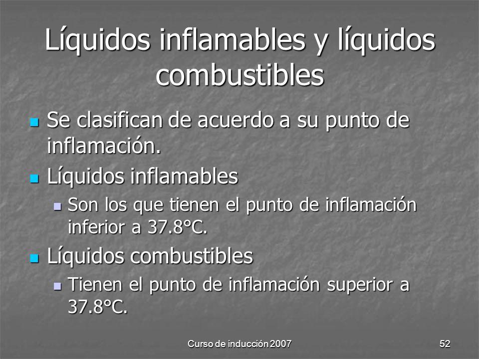 Líquidos inflamables y líquidos combustibles