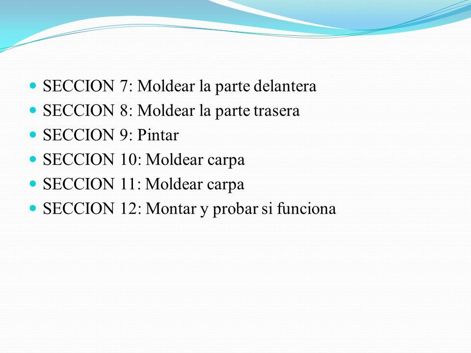 SECCION 7: Moldear la parte delantera