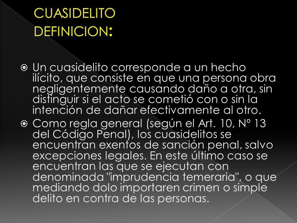 CUASIDELITO DEFINICION: