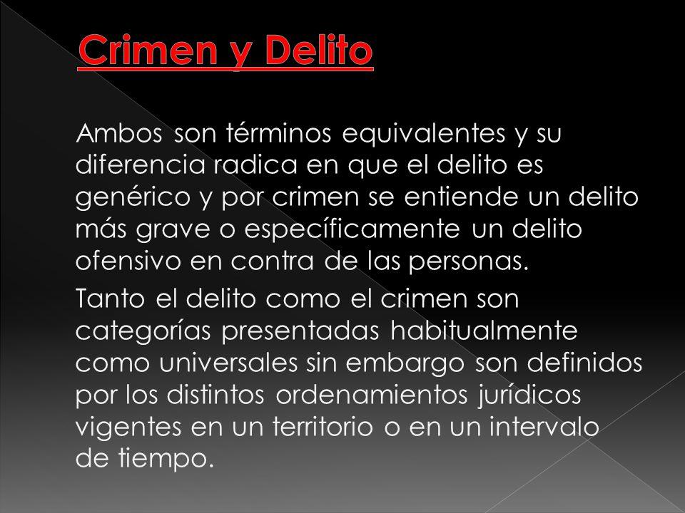 Crimen y Delito