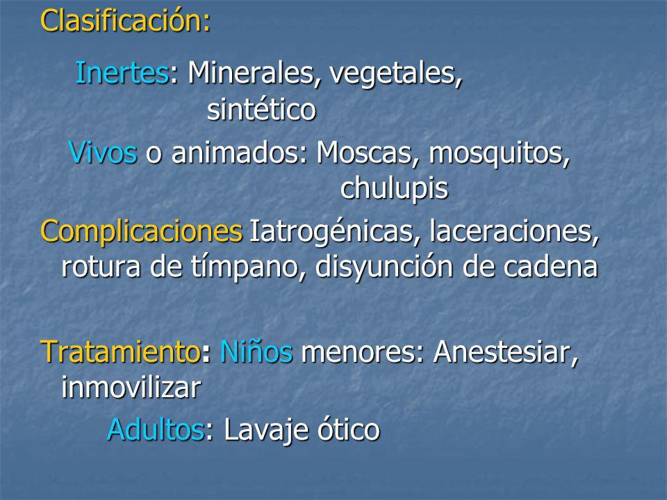 Inertes: Minerales, vegetales, sintético