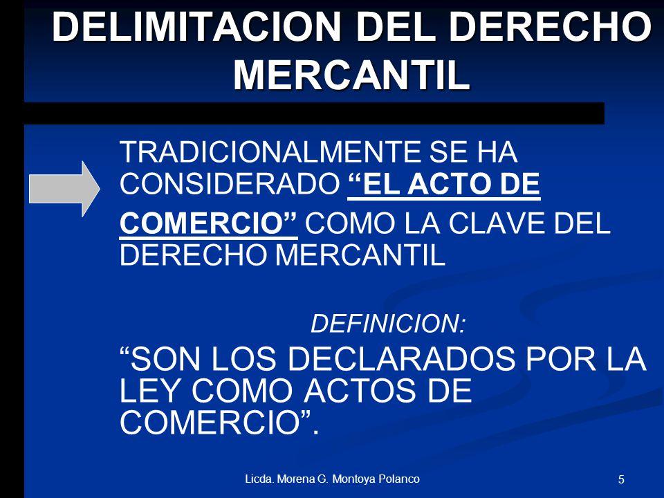 DELIMITACION DEL DERECHO MERCANTIL