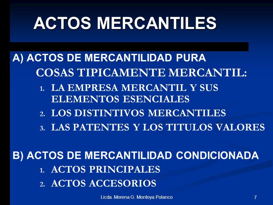 COSAS TIPICAMENTE MERCANTIL: