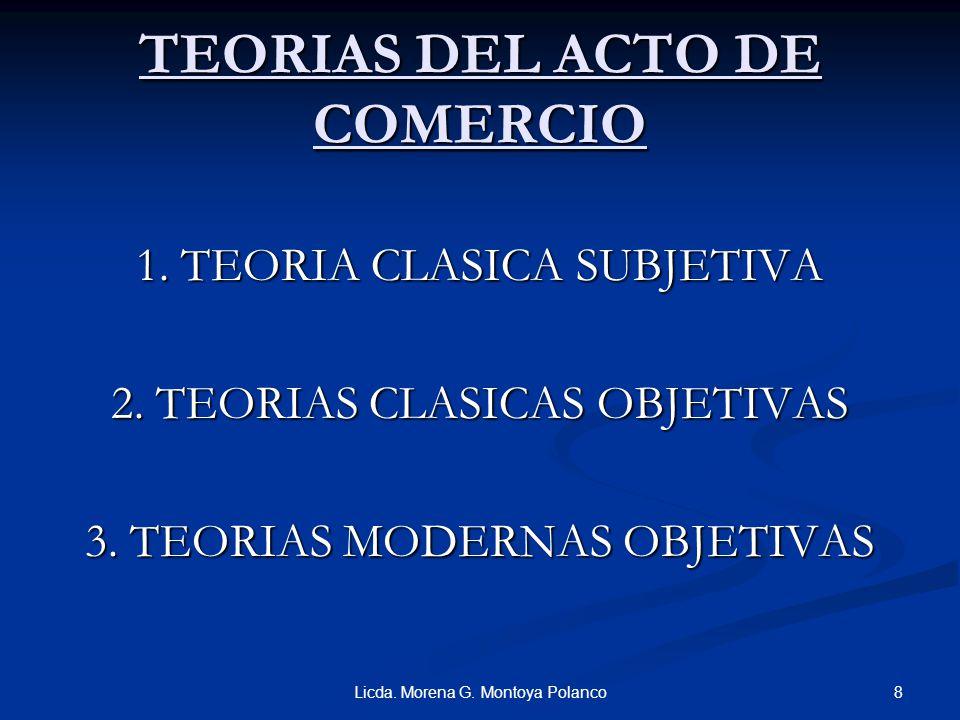 TEORIAS DEL ACTO DE COMERCIO
