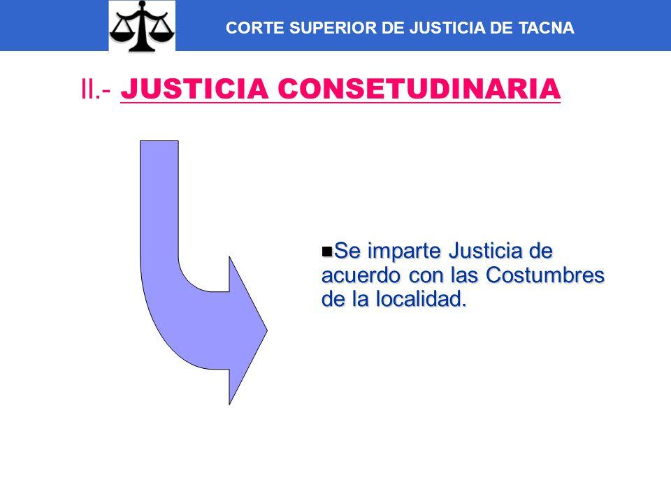 II.- JUSTICIA CONSETUDINARIA