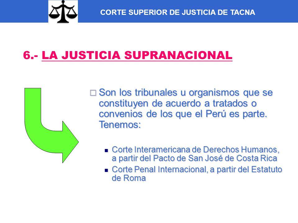 6.- LA JUSTICIA SUPRANACIONAL