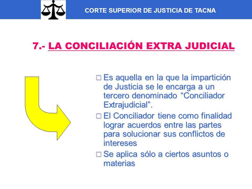 7.- LA CONCILIACIÓN EXTRA JUDICIAL