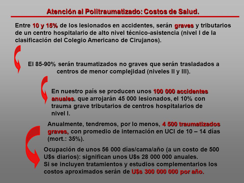 Atención al Politraumatizado: Costos de Salud.